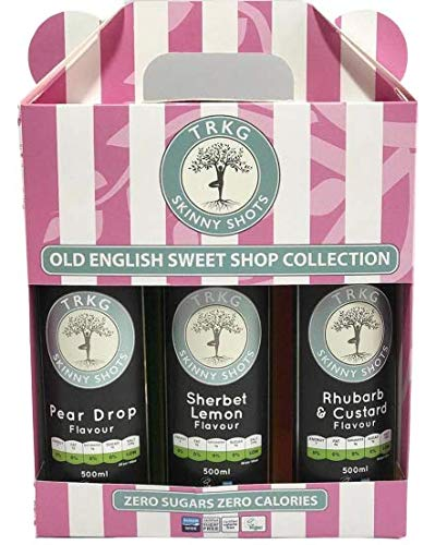 TRKG Skinny Shots - Old English Sweetshop Collection Trio Gift Set - (Sugar Free, Diabetic Friendly, Vegan)