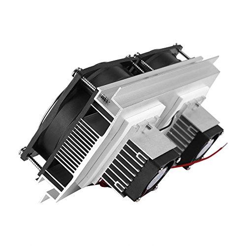 Northbear Thermoelectric Peltier Refrigeration Cooling Cooler Fan System Heatsink Kit Cooler (2 Fan)