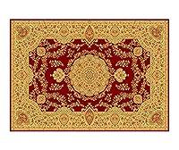 ヨーロッパスタイルの敷物長方形ヴィンテージ印刷洗えるカーペット手編みラテックス滑り止めフロアマット用寝室家庭用-A-140*200cm