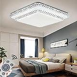 60W Plafón LED decoración de cielo estrellado lámpara de techo con control remoto lámpara de salón o dormitorio de bajo consumo redonda (60W regulable 3000-6500K)