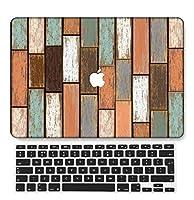 FULY-CASE プラスチックウルトラスリムライトハードシェルケース対応のある新しいMacBook Pro 13インチあり/なしタッチバー/タッチIDUSキーボードカバー A2159/A1989/A1706/A1708 (木目 A 5)