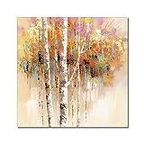 Plantas De Colores Pintadas A Mano Árboles Pintura Al Óleo Sobre Lienzo - Resumen De Gran Tamaño Pintura Mural Cartel De Obras De Arte Para La Luz De Entrada Del Corredor De Lujo Decoración Del