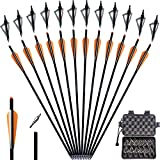 yooker 20 22 Inch Crossbow Bolts and Crossbow Broadheads Set Carbon...