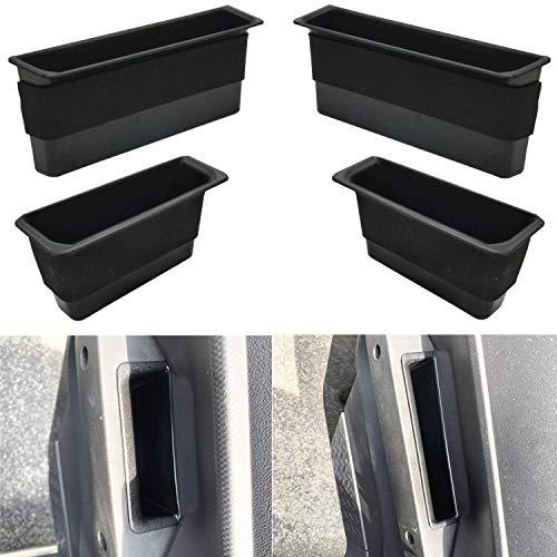 JOJOMARK for 2007-2010 Jeep Wrangler JK JKU 2-door/4-door Door Grab Handle Storage Box Organizer Tray Accessories