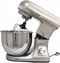 Stand Mixer 1000W (6 Speeds) with Stainless Steel Bowl 5L (عجانة) (Silver)