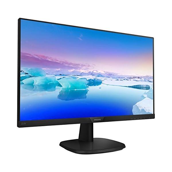"Philips V-line 223V7QDSB - LED monitor - 22"" (21.5"" viewable) - 1920 x 1080 Full HD (1080p) - IPS - 250 cd/m² - 1000:1 - 5 ms - HDMI, DVI-D, VGA - textured black 3"