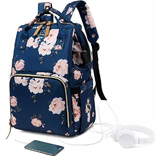Wubxbvvx Bolsa de pañales mochila grande bolsa de bebé impermeable maternidad pañal bolsa de cambio bolsas bolsas de hombro