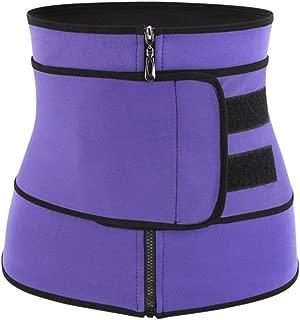 RZDJ Womens Slimming Body Shaper Belt Tummy Control Waist Trainer Breathable Belly Modeling Underwear Shapewear (Color : Purple, Size : XXXL)