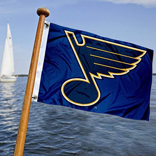 WinCraft Blues Hockey Boat and Golf Cart Flag