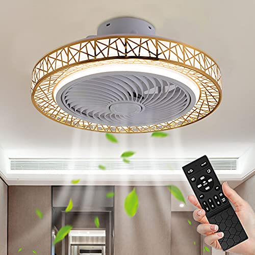 Boracy Ventilador de Techo con Luz LED, Ventilador de Techo Silencioso Modernos, Lámpara LED de Araña con Mando a Distancia para Dormitorio, Regulable, Creativo, 3 Velocidades