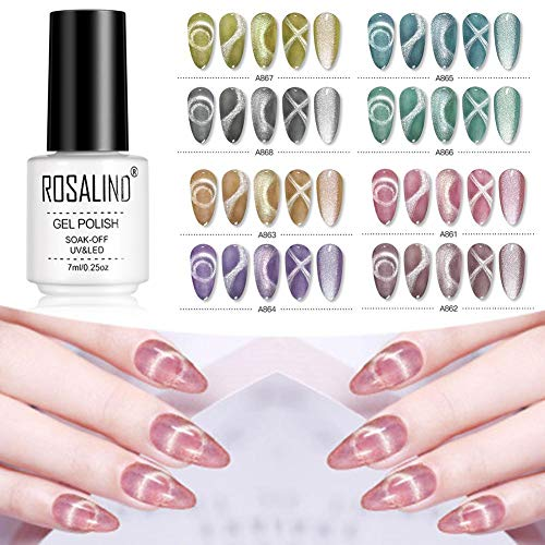 8 kleuren Magic Cracking Nagellak Leopard Gel Cracking Glue, Burst Crack Glue Set Voor ROSALIND Crack Nail Gel-8PCS 7ML