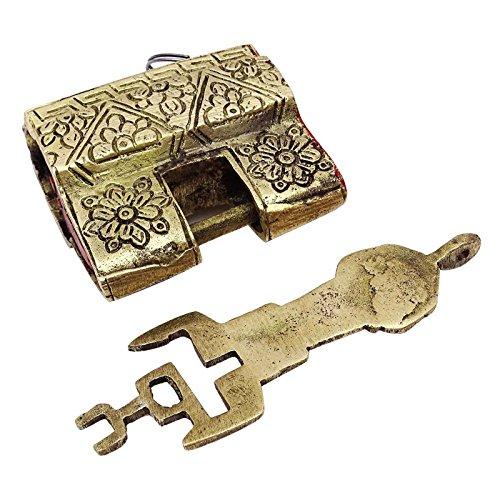 Indianbeautifulart Decorativo Antiguo candado metálico Tono