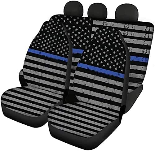FKELYI Patriotic Decor Car Boston Mall Seat Covers Set Sea Soft Comfort of 3 quality assurance