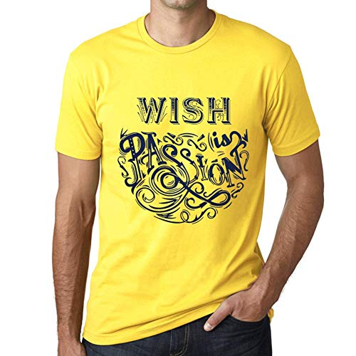 One in the City Hombre Camiseta Gráfico T-Shirt Wish Is Passion Amarillo