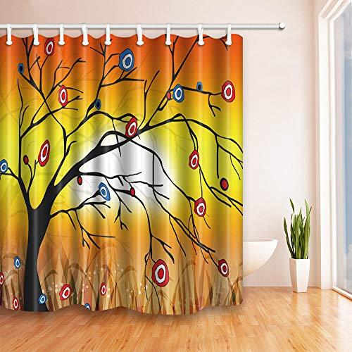 Goudvis en hert douchegordijn badkamer polyester stof & 12 haken 71 * 71 inch