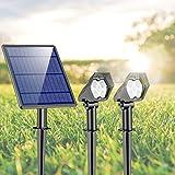 Luces Solares para Exterior, Ultra Potente Lámparas Solares Impermeable IP65, Focos LED Exterior con 3 modos...