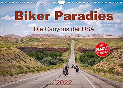 Biker Paradies - Die Canyons der USA (Wandkalender 2022 DIN A4 quer)
