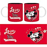 The Good Gift Disney - Taza - 320 ml - Mickey Loves You Forever Amantes y Amigos