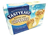 Tastykake Creme Filled Koffee Kake Cupcakes | Philadelphia Coffee Cake Individually Wrapped Snack Cakes | 4 Family Boxes