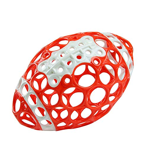 Bright Starts Oball Grasp & Play Football Easy-Grasp Toy - Red/White