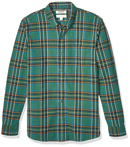 Goodthreads Standard-Fit Long-Sleeve Plaid Oxford Shirt Buttondown-Hemd, Green Tartan, Small