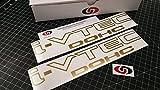 UNDERGROUND DESIGNS I VTEC DOHC 12' (Pair X2) Vinyl Decal Sticker Import Tuner Metallic Gold