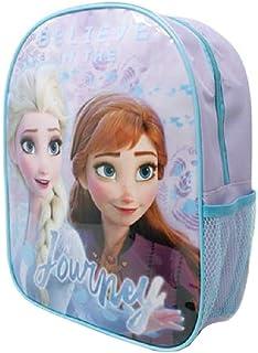 Frozen II Mochila pequeña de lona ligera con bolsillo de malla