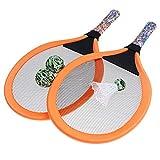 Abaodam 1 paire de raquettes de tennis pour enfants - Orange - Pour débutants - Avec balle en plastique - Jouet d'extérieur pour enfants