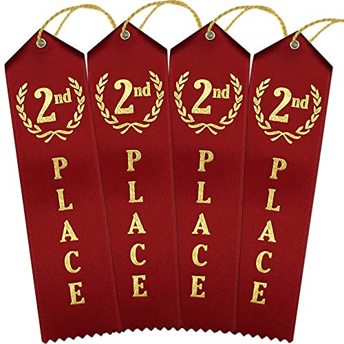 2nd Place Award Ribbons – Bulk 100 Pack