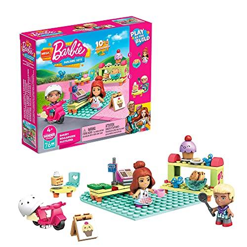 Mega Construx Barbie Pastelería, muñecas con bloques de construcción y accesorios de juguete (Mattel GWR32)