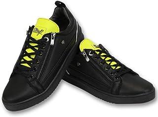 Cash Money Sneakersy - Maximus Black Yellow - czarne