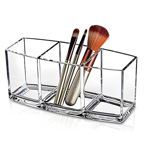 Kompassswc Kosmetik Organizer glasklar Acryl Kosmetikpinsel Behälter Lippenstift Schminkpinsel Aufbewahrungsbox Schmuckkästchen 245G