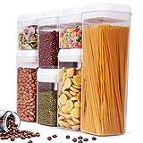 BALCONY & FALCON Vorratsdosen Set Kunststoff Frischhaltedosen Luftdicht Vorratsdosen BPA Frei für Lebensmittel 7 teilige Set 0.5LX2 /0.8LX2 /1.2LX2 / 1.9LX1