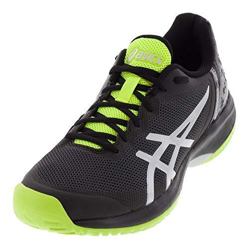 ASICS Men's Gel-Court Speed, Black/Yellow, 9.5 D