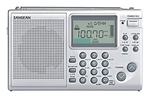 Sangean All in One AM FM SW Professional Digital Multi-Band World Receiver Radio with Large Easy to Read Backlit LCD Display