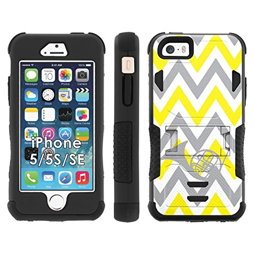 iPhone SE | 5 | 5S Phone Cover, Chevron French Horn- Flak Jacket Dual Armor with Kick-Stand for [iPhone SE | 5 | 5S] with [Kickstand and Holster]