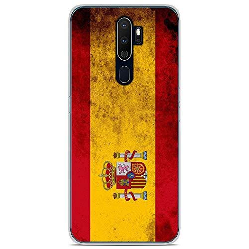 1001Case - Carcasa de silicona para Oppo A9 2020, diseño de bandera de España