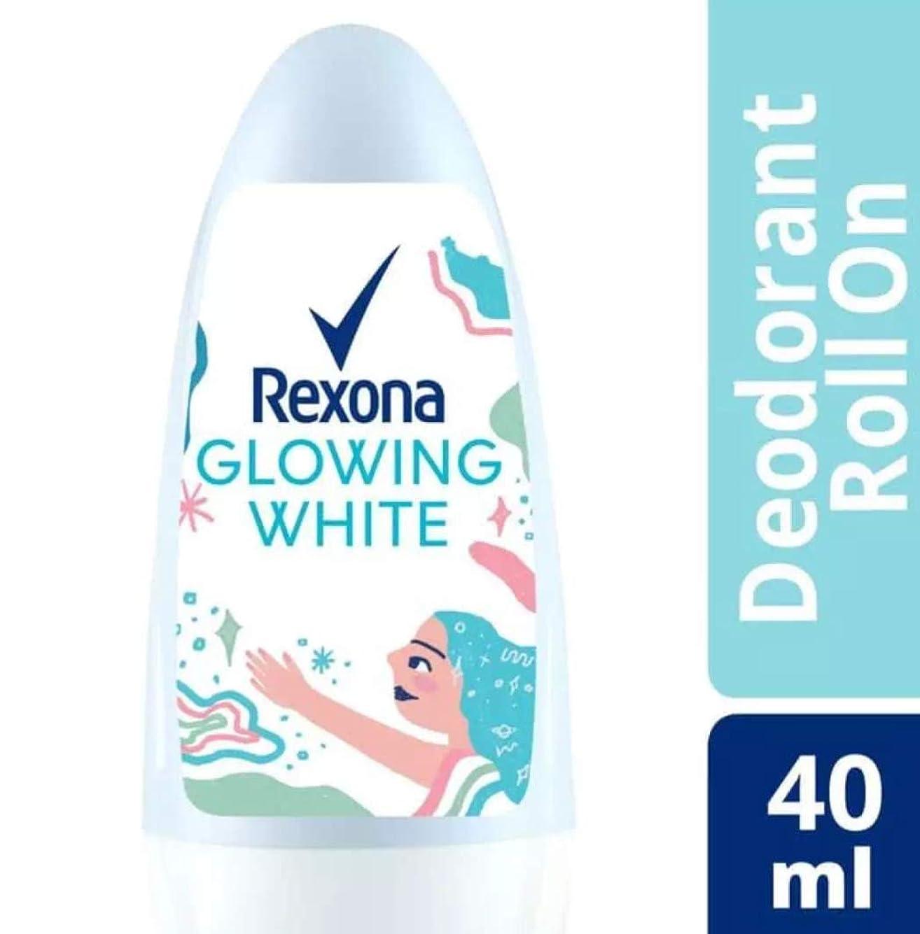 リーズピラミッド補助Rexona レクソナ woman 制汗 デオドラント ロールオン GROWING WHITE【アルコール 0%】 ソフトなバラの香り 40ml [並行輸入品]