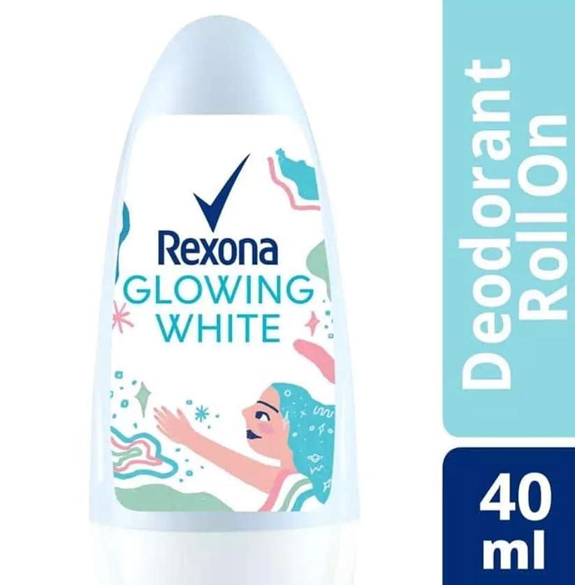 ダイヤモンド極端な口述Rexona レクソナ woman 制汗 デオドラント ロールオン GROWING WHITE【アルコール 0%】 ソフトなバラの香り 40ml [並行輸入品]