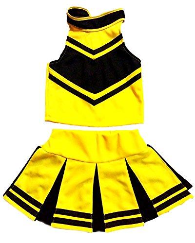 Total 2550 Little Girls 'Cheerleader animadora Outfit disfraz de uniforme Cosplay - Multi -