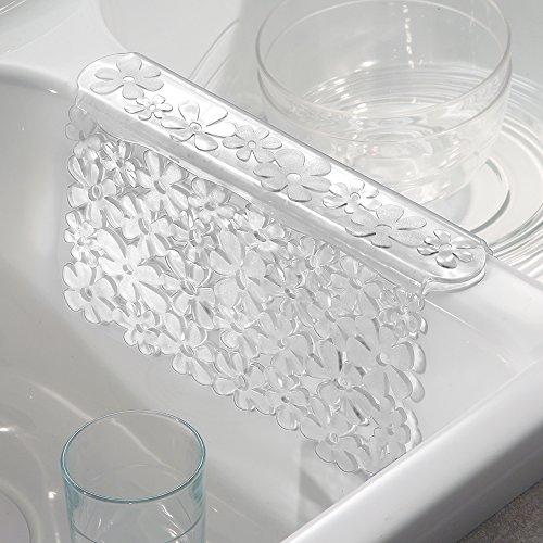 "iDesign Blumz BPA-Free Flexible PVC Plastic Sink Divider Mat - 8.25"" x 1.75"" x 4.5"", Red"