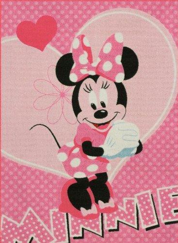 Minnie Mouse Minnie Mouse Minnie con cuori rosa bambini tappeto tappeto bambini tappeto gioco tappeto non può mancare in cameretta assenza di 95x 133cm