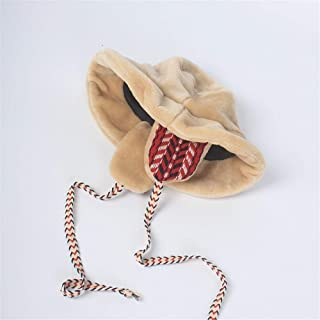 KCBYSS Winter Faxu Lambswool Bucket Hat for Women Ribbon Thick Warm Female Girls Bob Outdoor Sunscreen Lady Ear Protection Cap (Color : Camel)