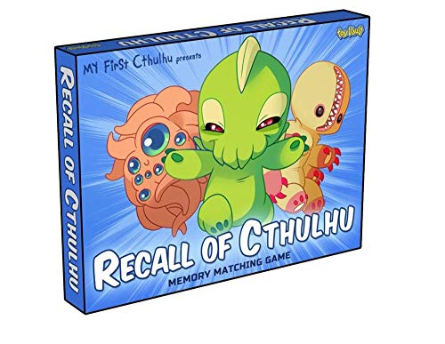 Toy Vault Recall of Cthulhu Memory Matching Game, Concentration Game for Kids and Adults based on H.P. Lovecraft's Cthulhu Monsters