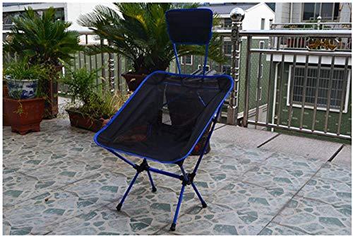 Eastbride Chaise Pliante d'extérieur, Chaise de Camping Portable Ultra-légère avec Dossier, adaptée aux Voyages de pêche et de randonnée-Bleu Royal
