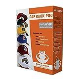 Soporte para gorras planas, Mantiene el orden, para 18hasta 36 gorras deBéisbol según modelo, 2: Weiß 10 Clips
