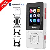 SUNNZO X16 16Go Lecteur MP3 Bluetooth 4.2,avec Lecture des musiques de 50...