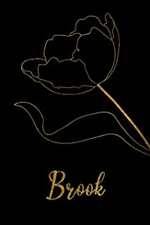 Brook: Personalized Writing Journal for Women - Elegant Black and Gold