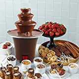 3 Tiers Chocolate Fondue Fountain Stainless Steel Heated Chocolate Melting Machine,Only 0.5 Pound...