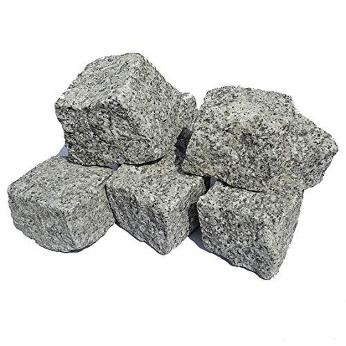 AUPROTEC Granit Pflastersteine Naturstein 9/11 grau DIN EN 1342: 20 Steine (ca. 0,2 m²)
